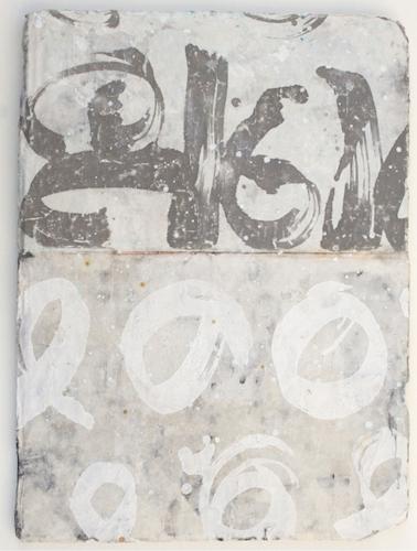 pattern II- sold  mixed media / paper / wood  23 x 16 x 1