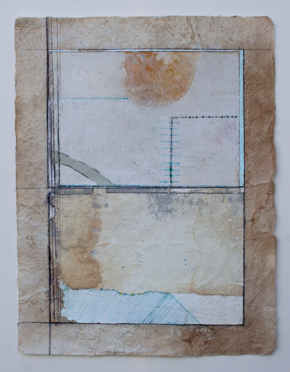 keys series  'dawn'   mixed media on paper  12 x 9  sold  .  .