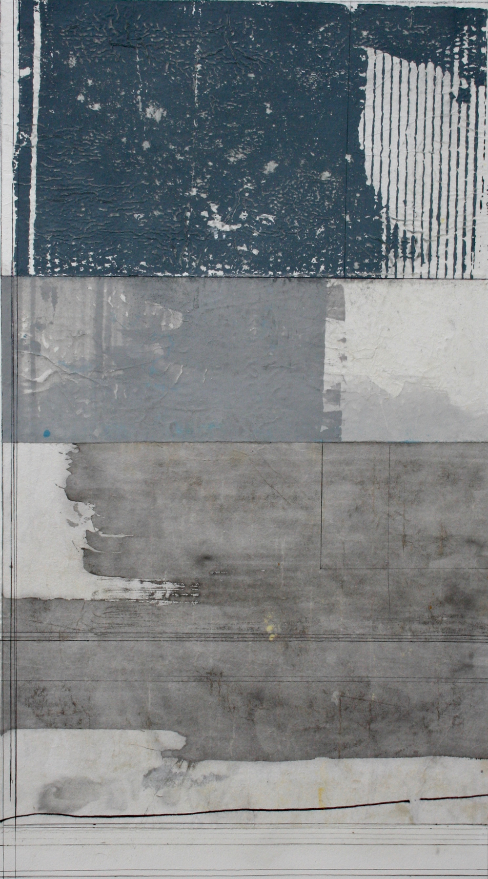 .    cantilever  mixed media on paper  40 x 26  .  .