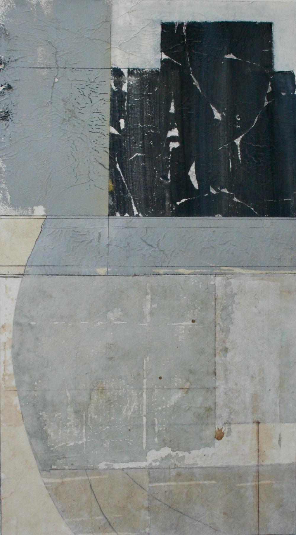 key stone  mixed media on paper  40 x 26  .  .