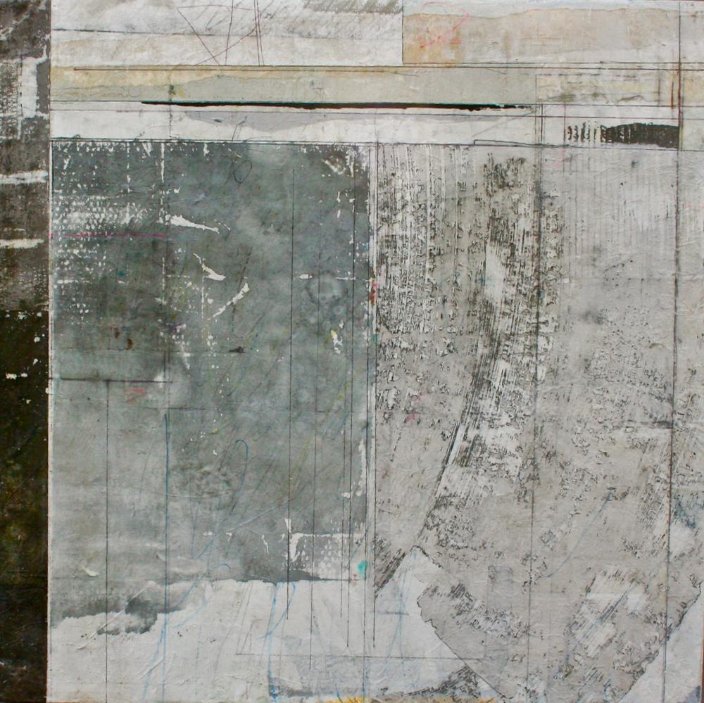 penumbra  mixed media on panel  38 x 38  .  .