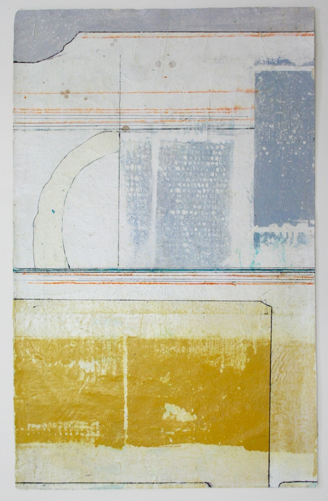 modern primitive  mixed media on paper  25 x 17  .  .