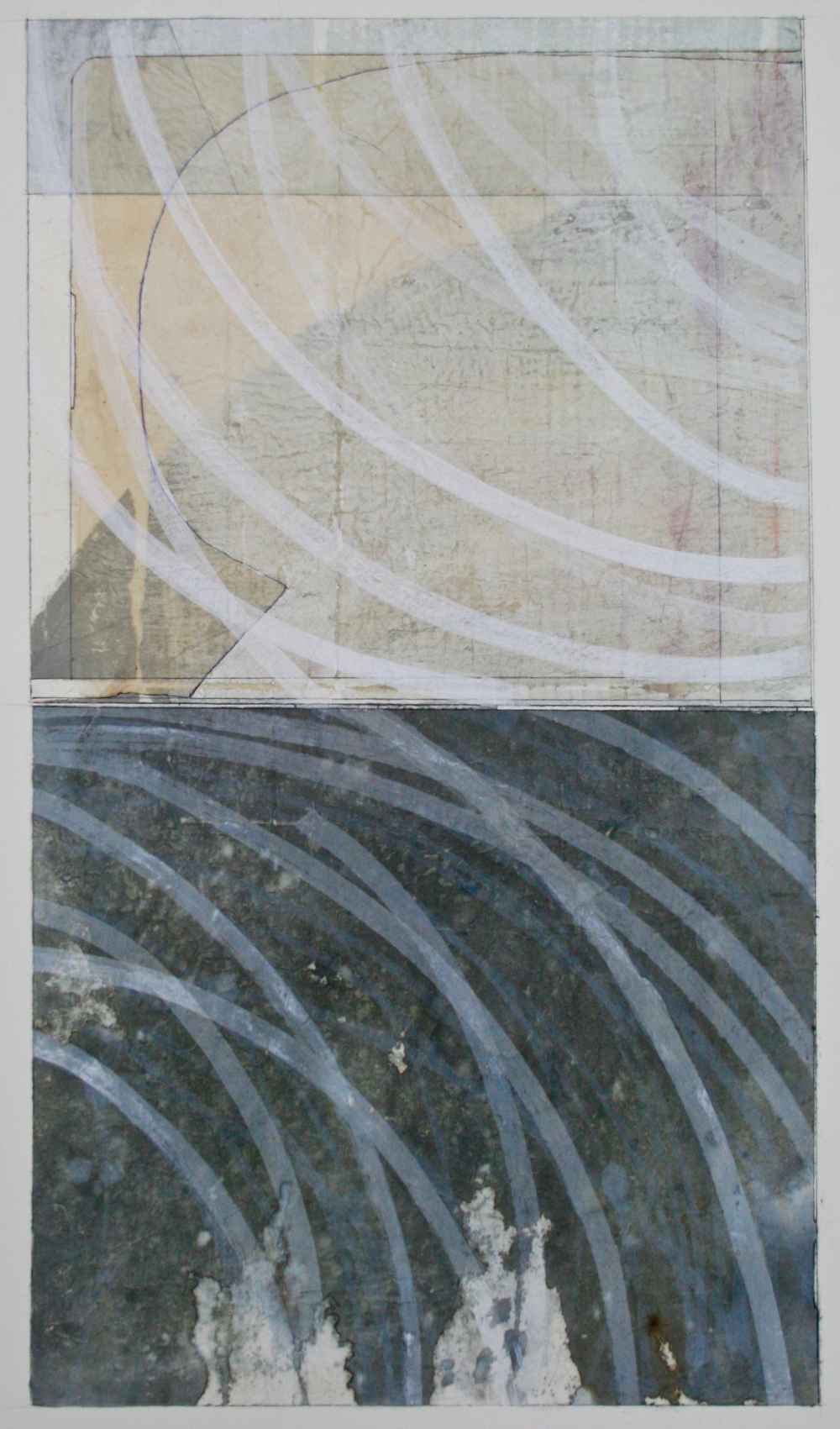 chalk lines  mixed media on paper  40 x 26  .  .