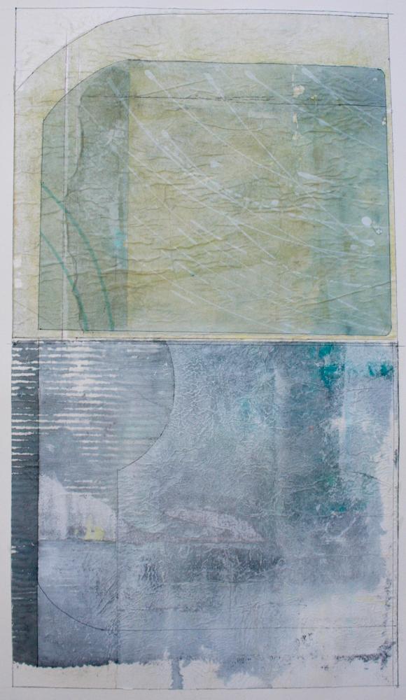 emerald  mixed media on paper  40 x 26  .  .