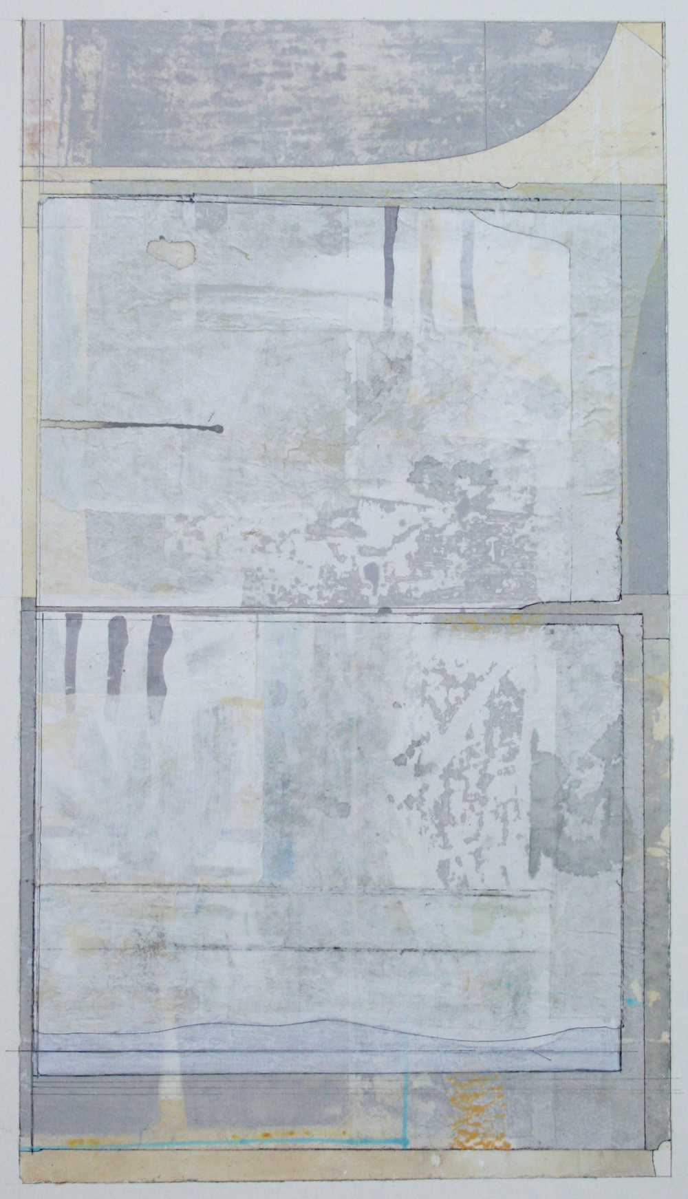 quilt  mixed media on paper  40 x 26  .  .