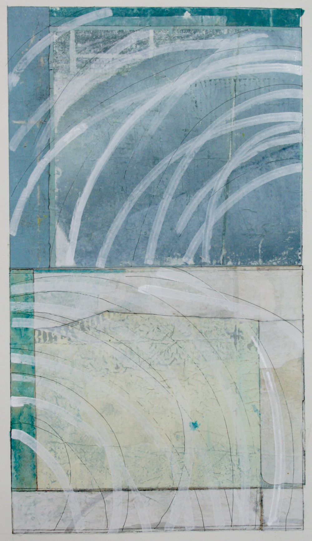 flow  mixed media on paper  40 x 26  .  .