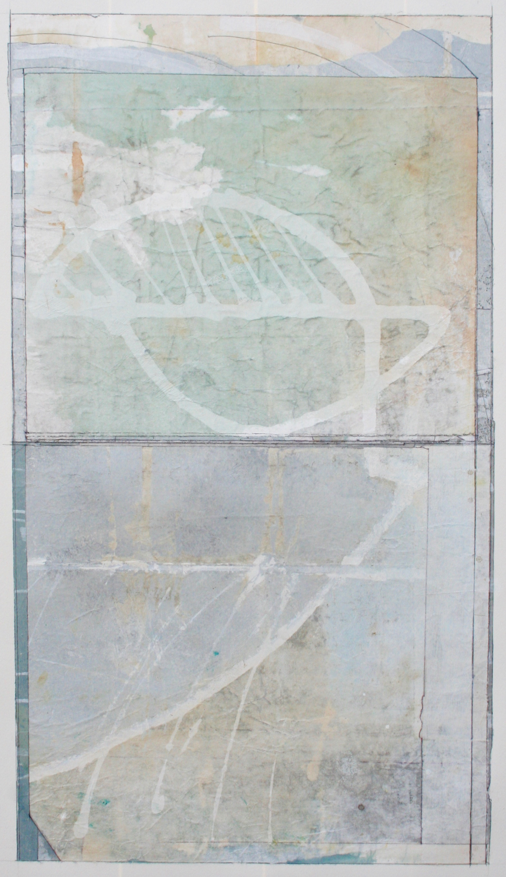 pictograph  mixed media on paper  40 x 26  .  .