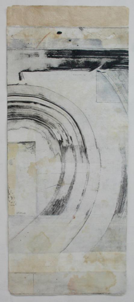 totem: chime  42 x 17.5  mixed media on Tibetan paper  .  .  .