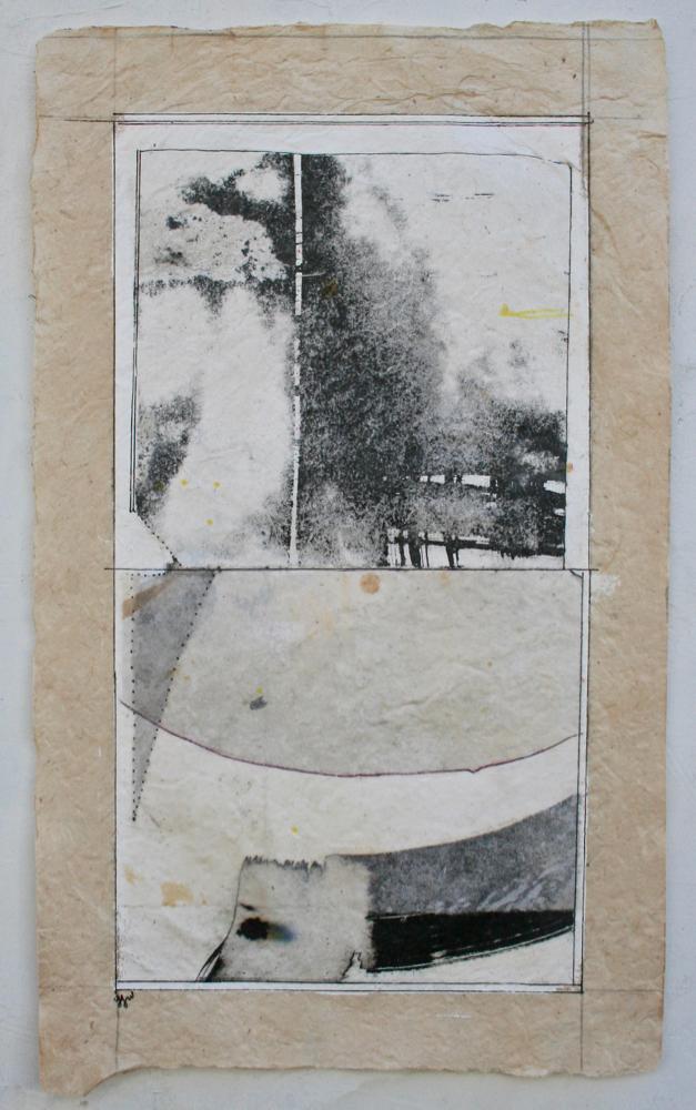 vata I  mixed media on Tibetan paper  15 x 9  .  .  .