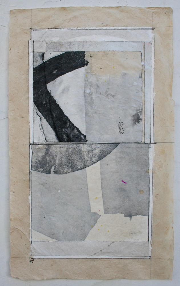 vata III  mixed media on Tibetan paper  15 x 9  .  .  .