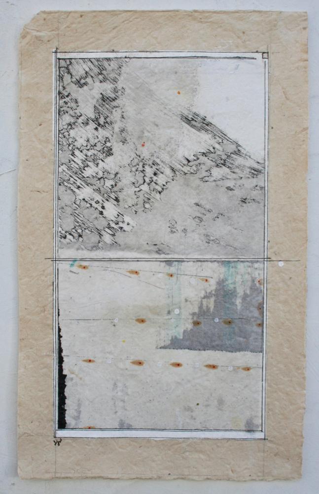vata IV  mixed media on Tibetan paper  15 x 9  .  .  .