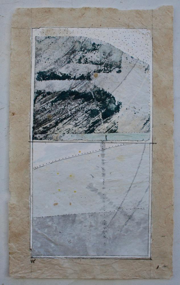 vata VI  mixed media on Tibetan paper  15 x 9  .  .  .