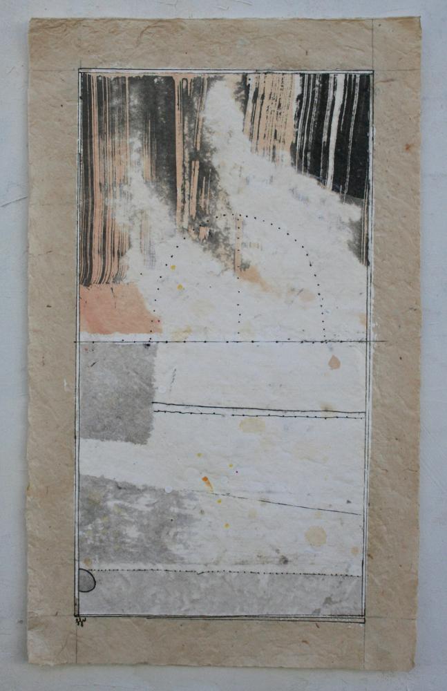 vata VII  mixed media on Tibetan paper  15 x 9  .  .  .