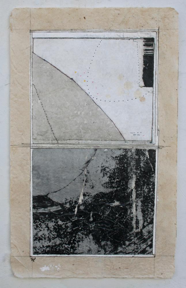 vata VIII  mixed media on Tibetan paper  15 x 9  .  .  .