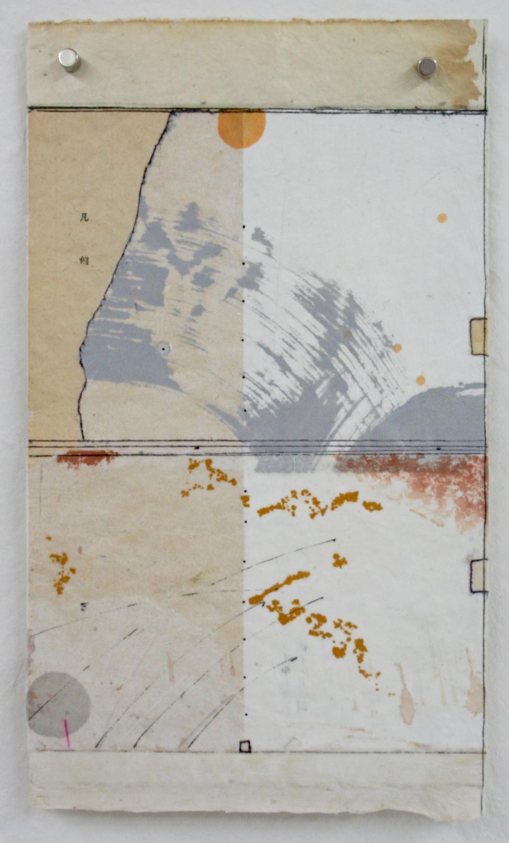 vata IX  mixed media on Tibetan paper  10 x 6  .  .  .