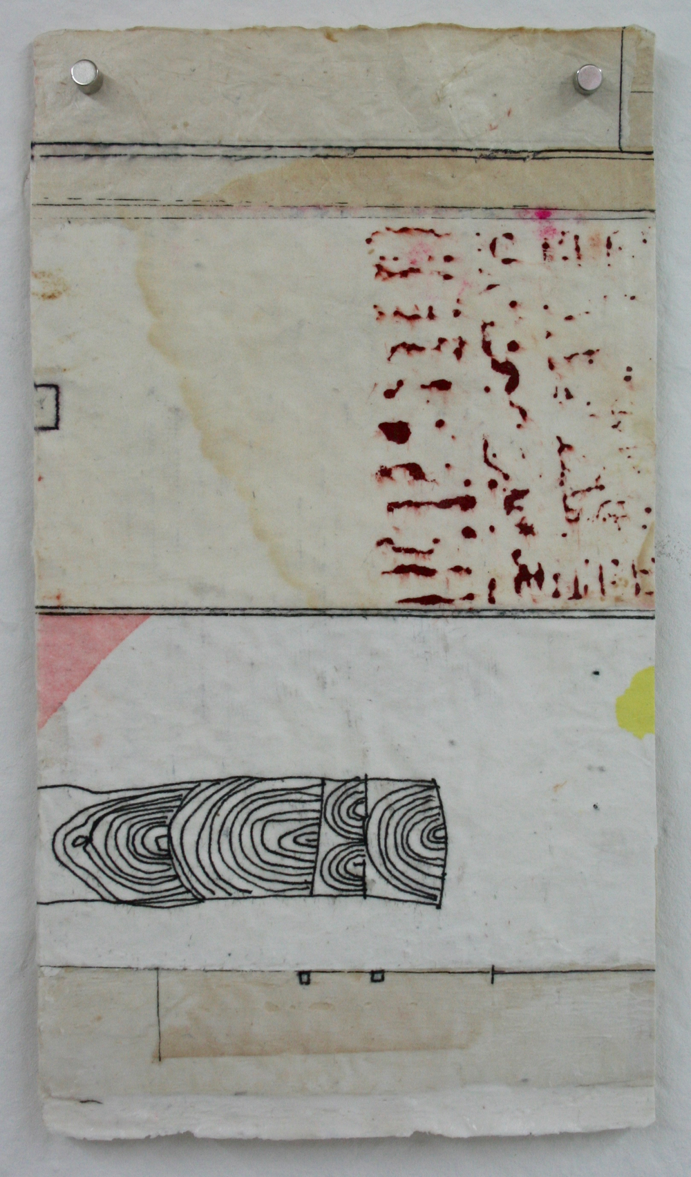 vata X  mixed media on Tibetan paper  15 x 9  .  .  .