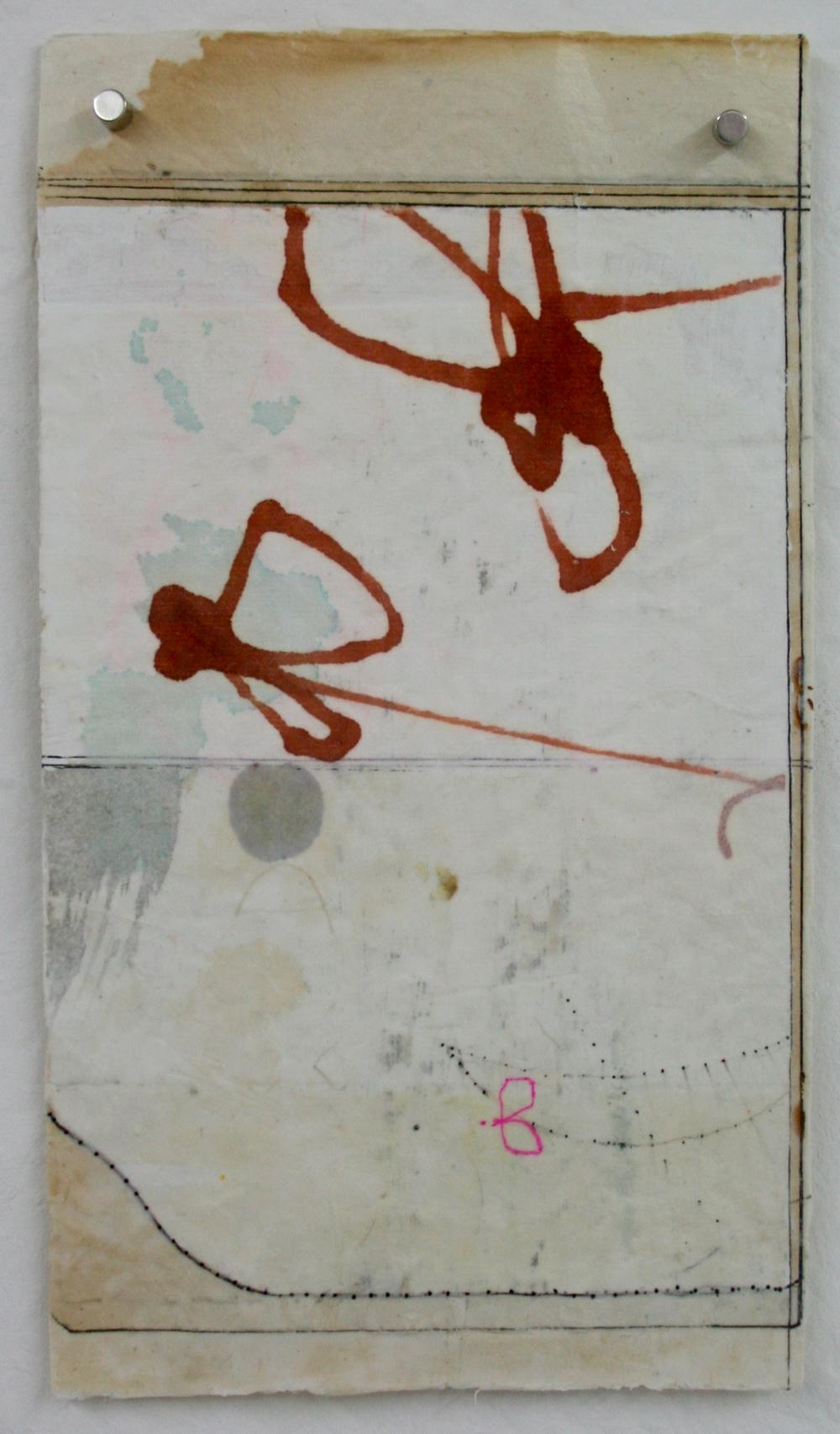 vata XI  mixed media on Tibetan paper  15 x 9  .  .  .