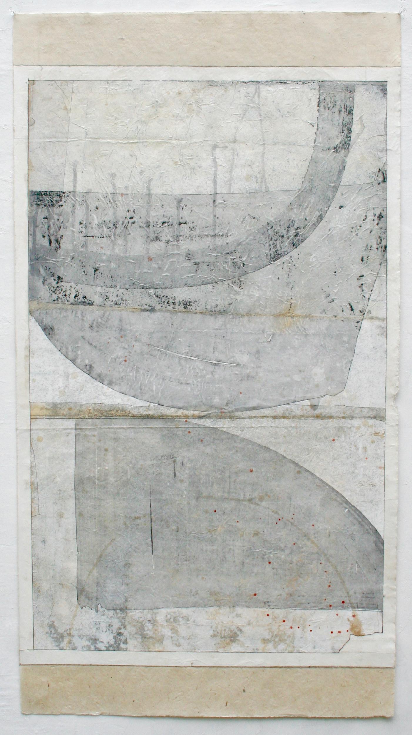 Giacometti  mixed media on Tibetan paper  48 x 25.5  sold  .  .  .  .