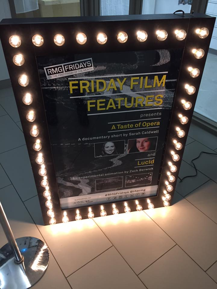 My names up in lights at the RMG Friday event