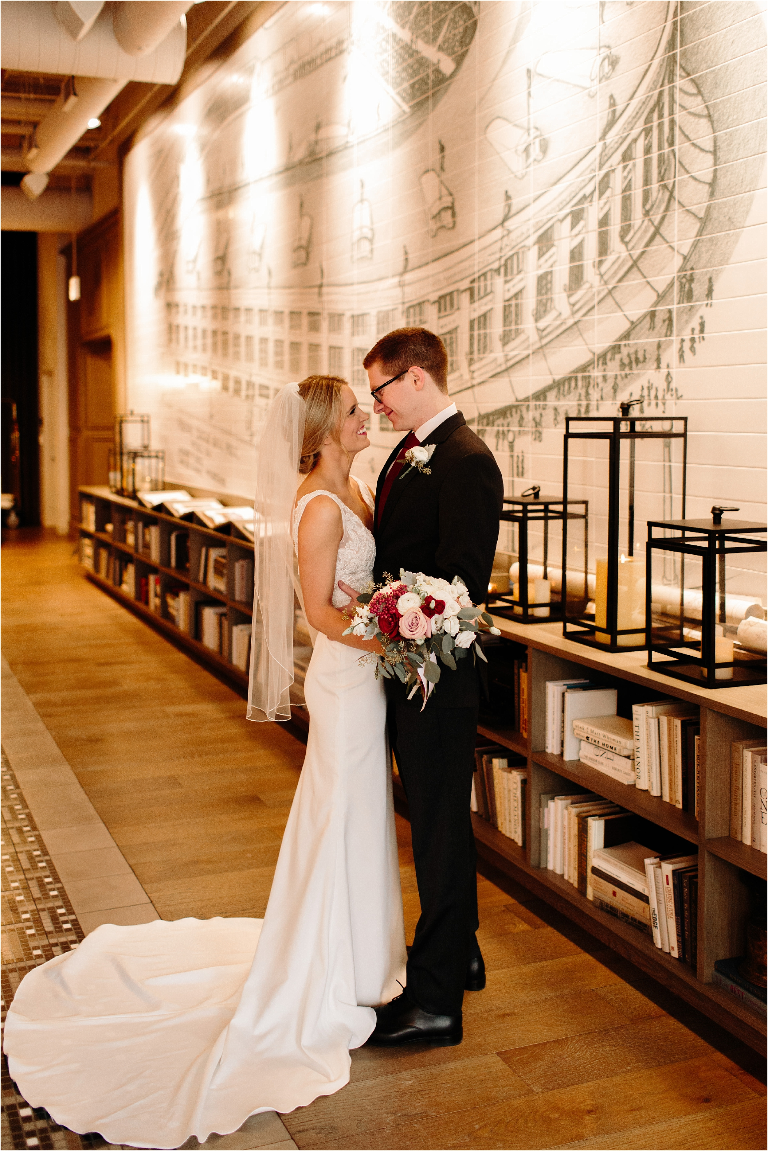 Hotel Zachary Chicago Winter Wedding