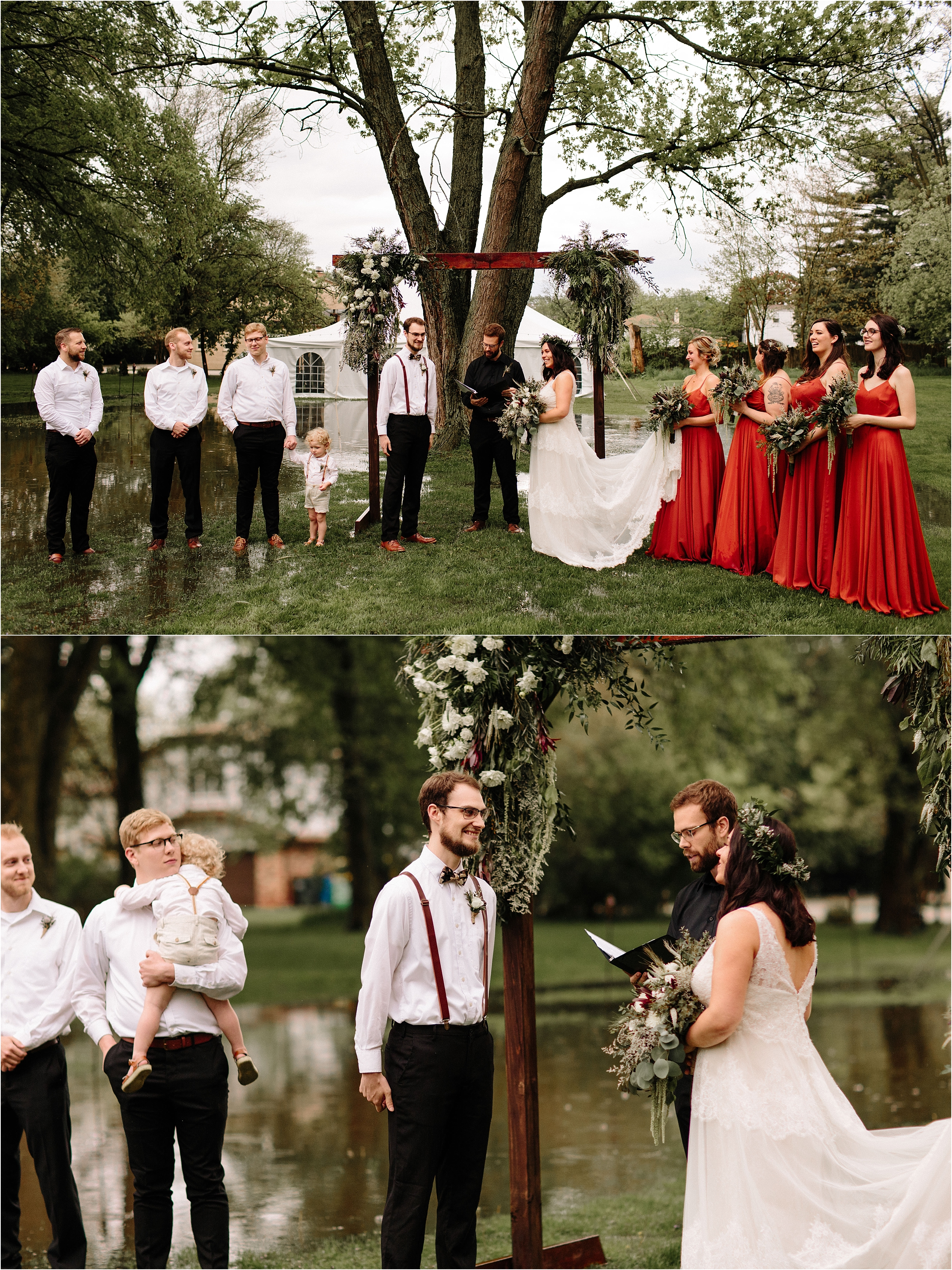 Chicago Illinois backyard wedding