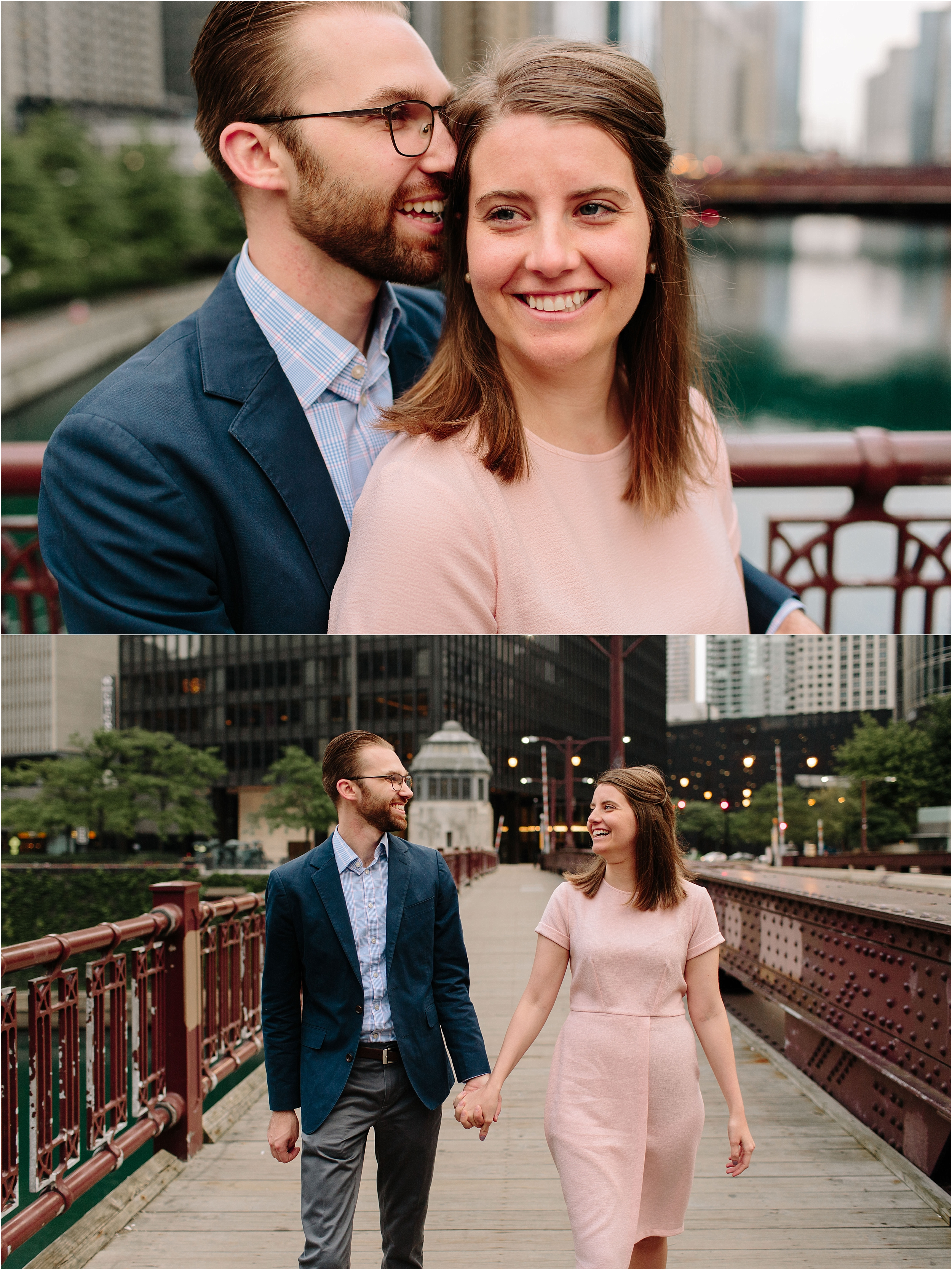 Chicago downtown engagement session