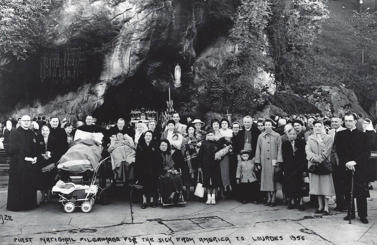 The first us national rosary pilgrimage to lourdes, 1956