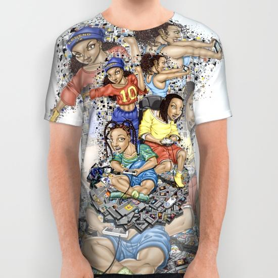 """""""Growing Up Nintendo"""" AOP Shirt"""
