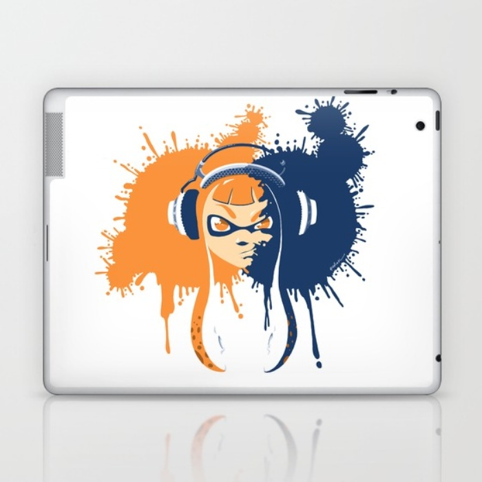 """Squid Girl Splash Jam"" iPad Skin"