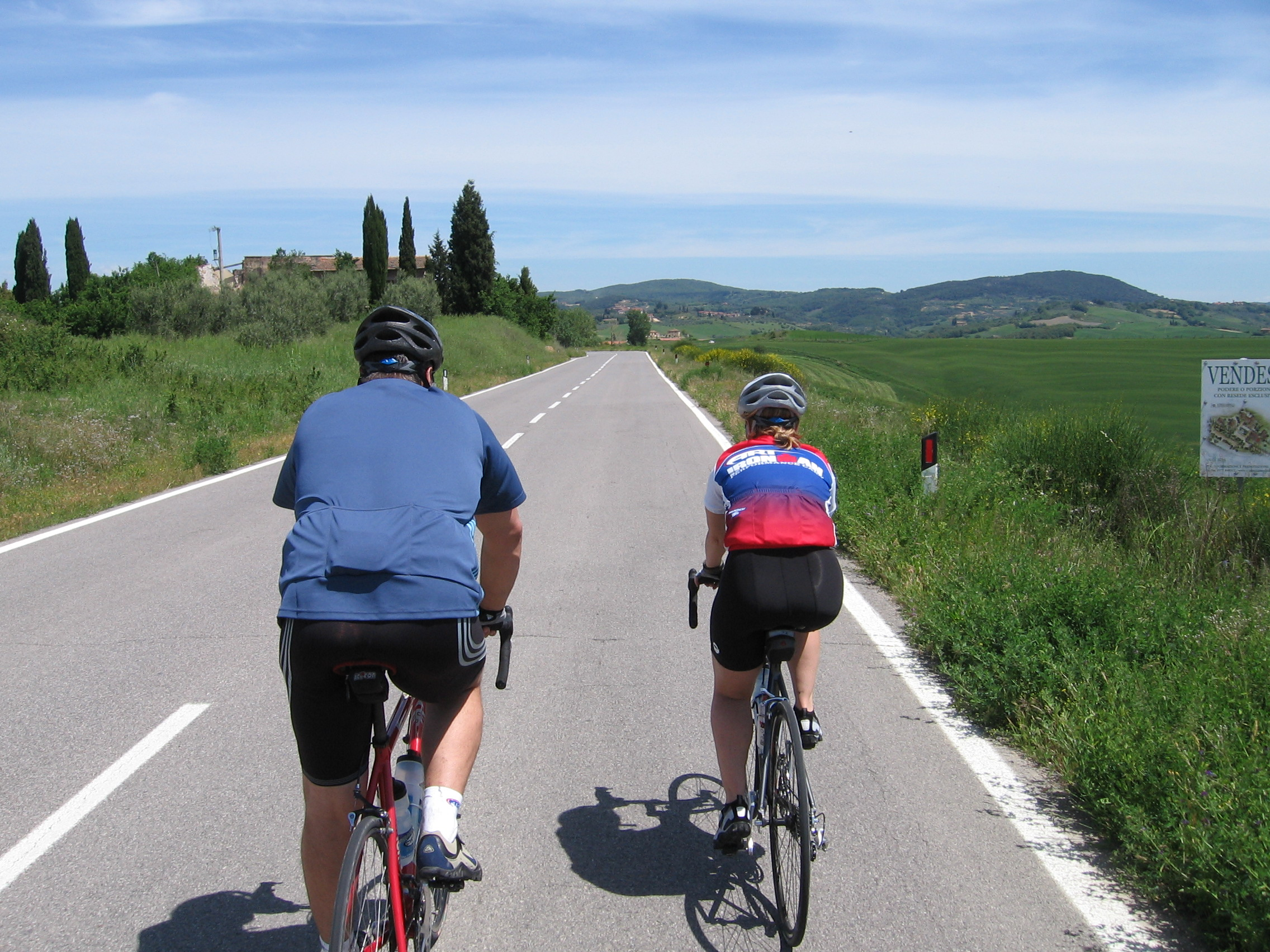 cycling on tour