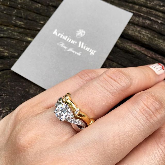 Ta-dah! Customised means your rings sit perfectly together, no swivelling nonsense. #kristinewongfinejewels #kwfj