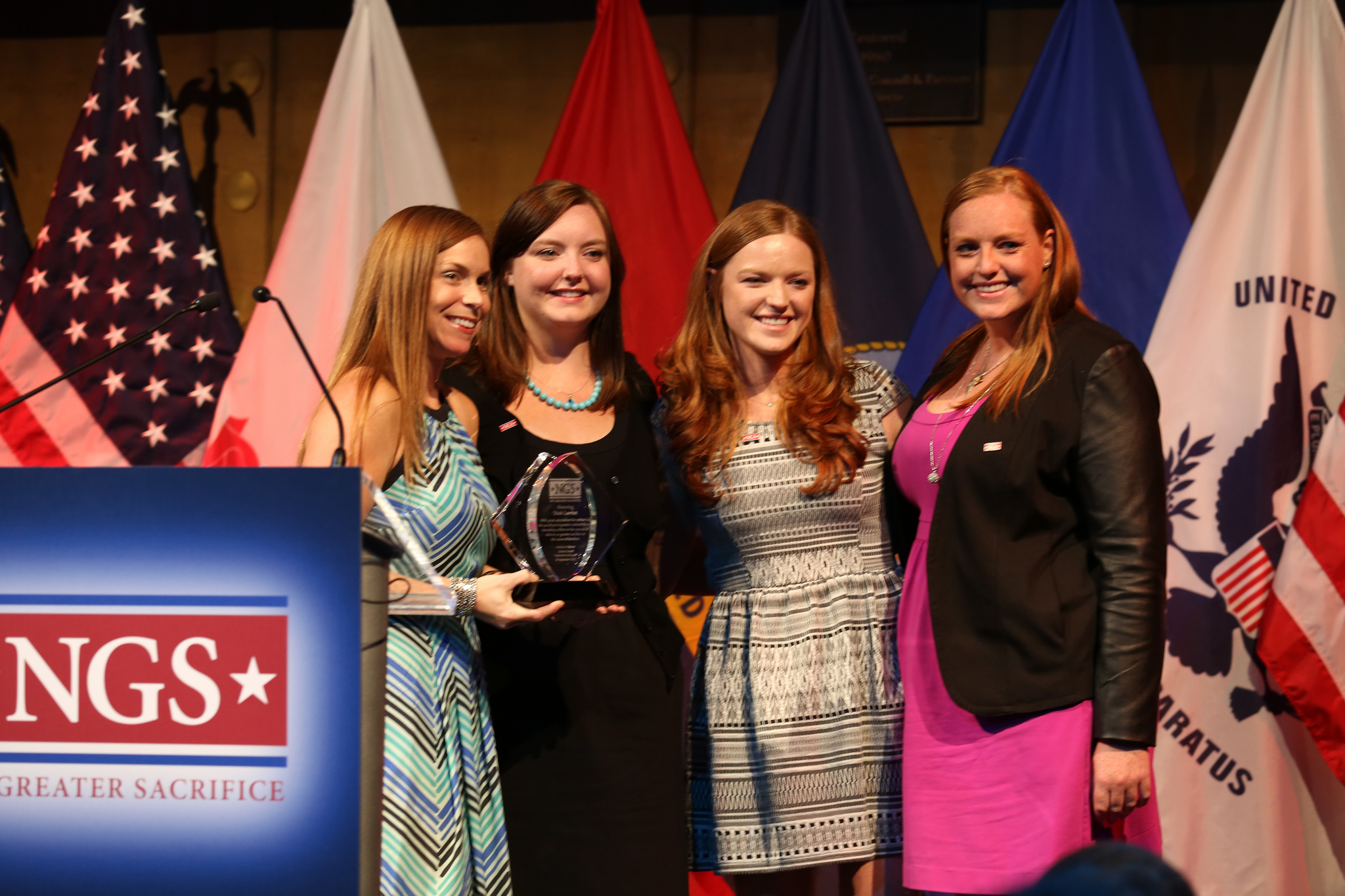 My sisters and I presenting the 2013 Patricia A. Brown Liberty Award