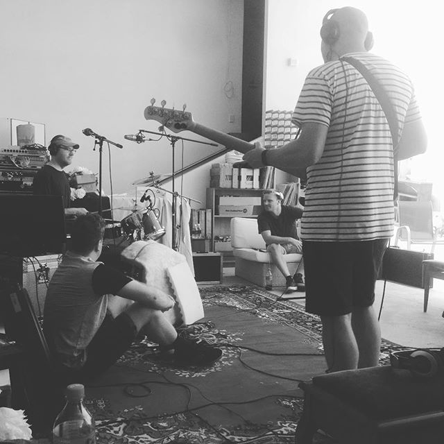 Getting the #rhythm done ✅ #recording #album3 #newmusic #indierock #rock #tricksandsleeves #summersessions