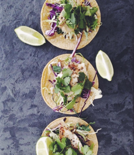 grilled fish tacos with cumin-lime slaw