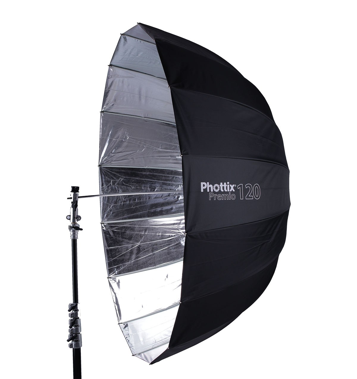 Phottix Premio 120CM Parabolic Umbrella - If this were Lord of the Rings, this would be the Parabolic umbrella to rule them all.  High quality construction, smooth mechanisms for easy setup and the light fall off is perfect.  Incredible piece of kit!