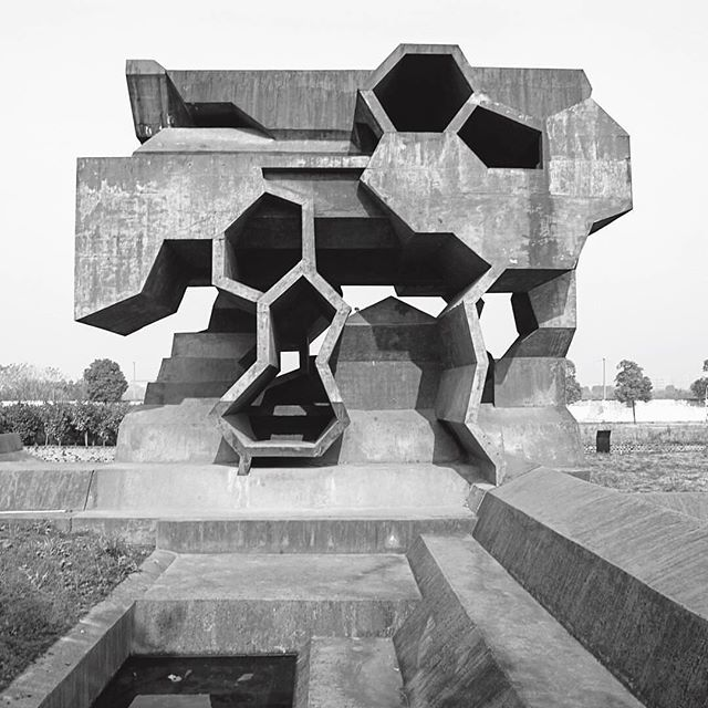 Reading Pavilion, Jinhua Architecture Park, China. Photo by Addison Godel, from @phaidonsnaps' new book Atlas of Brutalist Architecture, via @anothermagazine