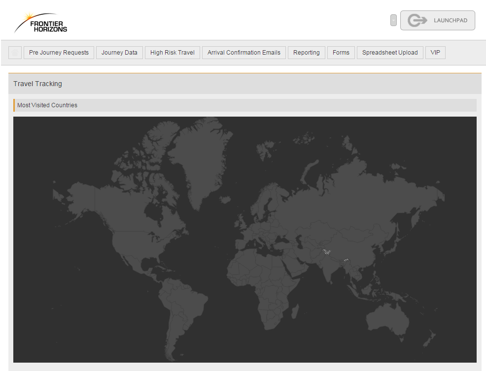 Travel Tracking Most Visited