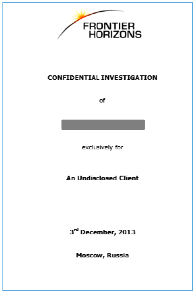 Document Cover Sheet