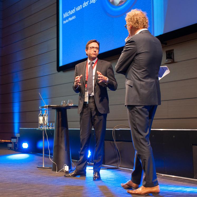Michaël van der Jagt, Parx Plastics and host Rens de Jong