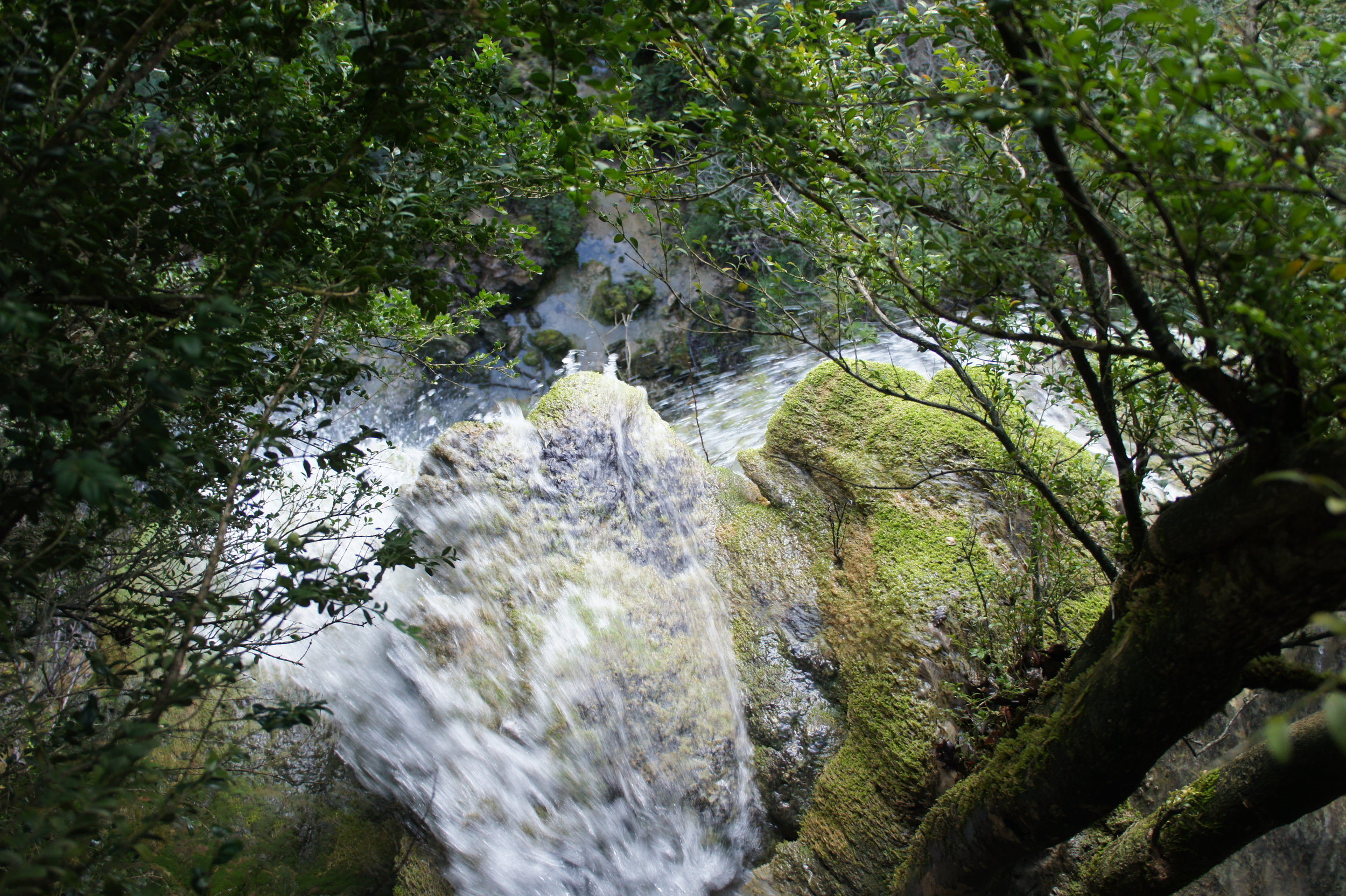 Flow of creativity is like water through a gorge