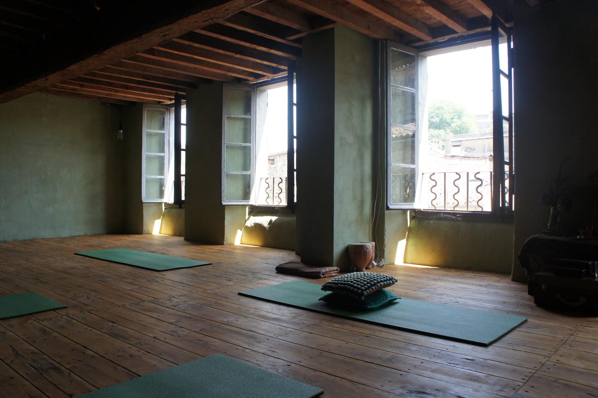 Yoga shala at Yobaba Lounge