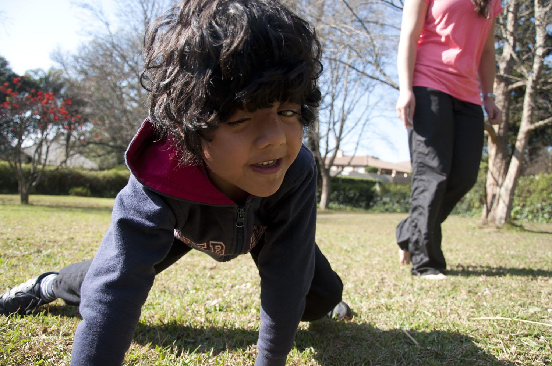 Autistic Boy Exercise