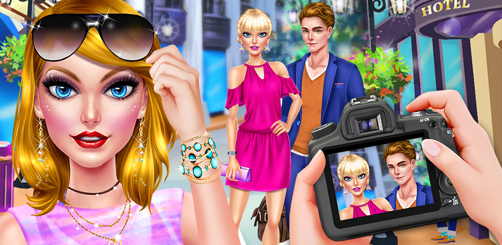HOLLYWOOD CELEBRITY LOVE STORY  You'll have your big chance to be a celebrity paparazzi taking pictures of all of the hottest Hollywood couples. Two of your favorite Hollywood stars are dating. Can you get the best pictures?