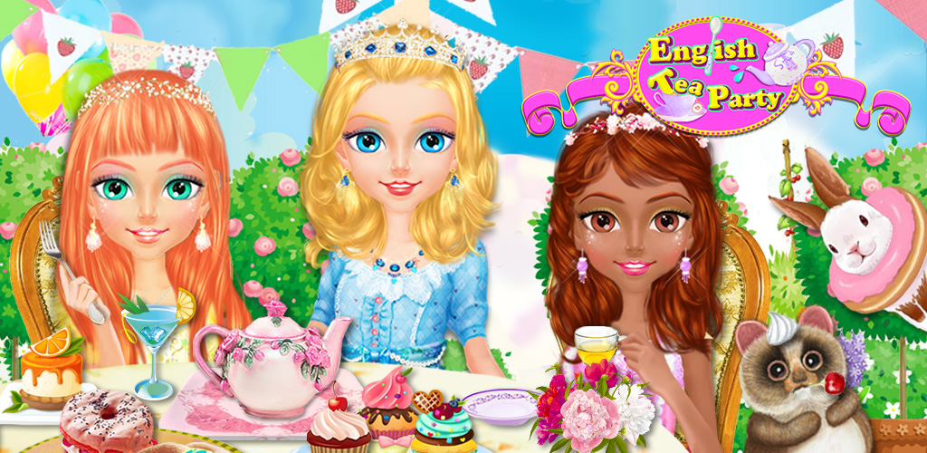 MY CINDERELLA FAIRY TEA PARTY  Put on your best dress and get ready for a classic royal red carpet treatment! English Tea Party takes place in a princess' castle where the British royals are about to have cake and dessert.