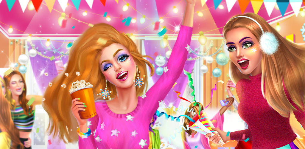 POP IT GIRL™ - WINTER PARTY  The Pop It Girl Squad is the best dance and music squad around. Tina, Karen, Judy, and Natalie are all BFFs that met in high school. They need your help for their winter party!