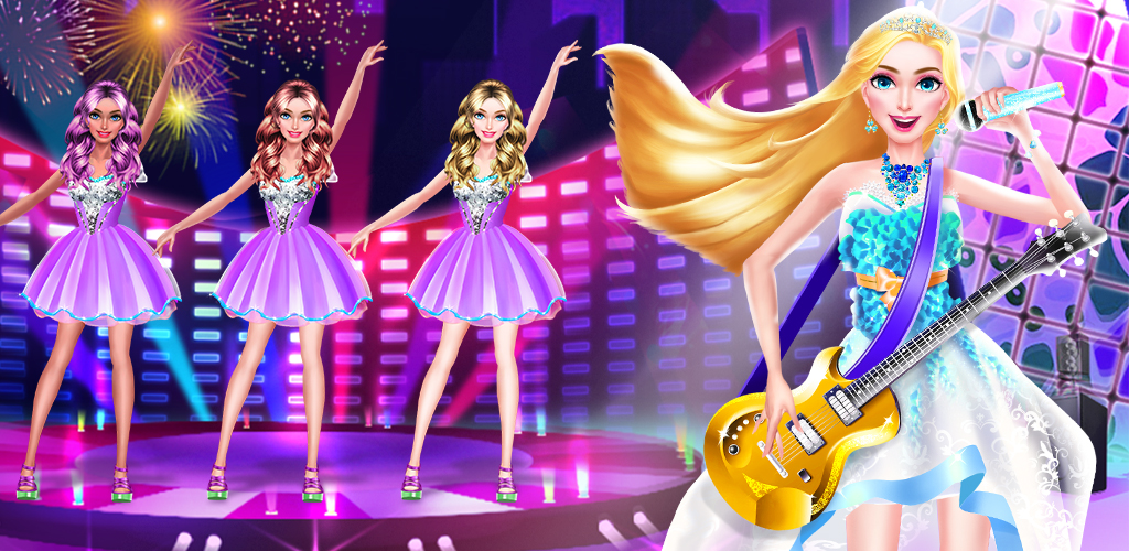 PRINCESS BAND - POP STAR SALON  Being a princess is a great treat, but even princesses have big dreams. Fancy balls and handsome princes can only do so much when you have the hopes to become a pop star!