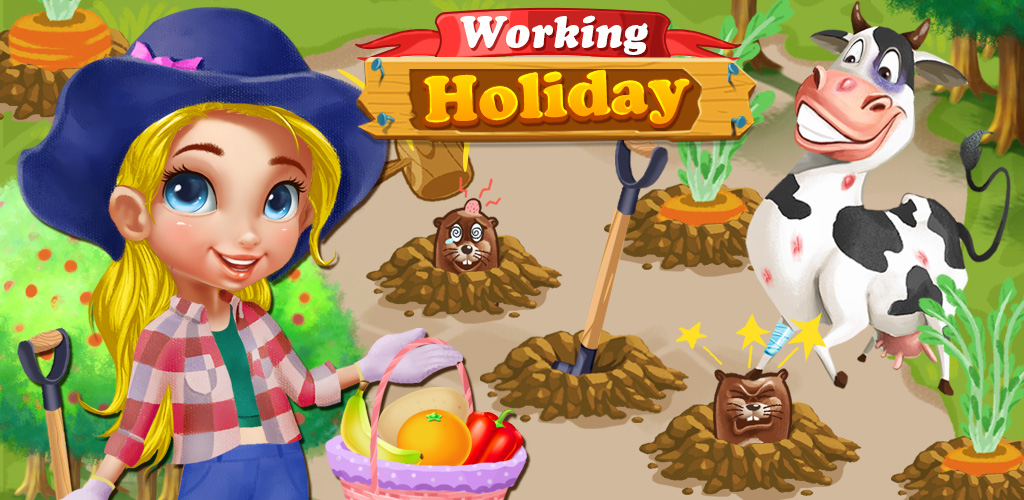PRINCESS GIRLS WORKING HOLIDAY  Sometimes even princesses get tired of being royalty. Princess Helena wants to do something different than going to balls and wearing fancy gowns, and the King and Queen don't like her decision: to be a farmer!