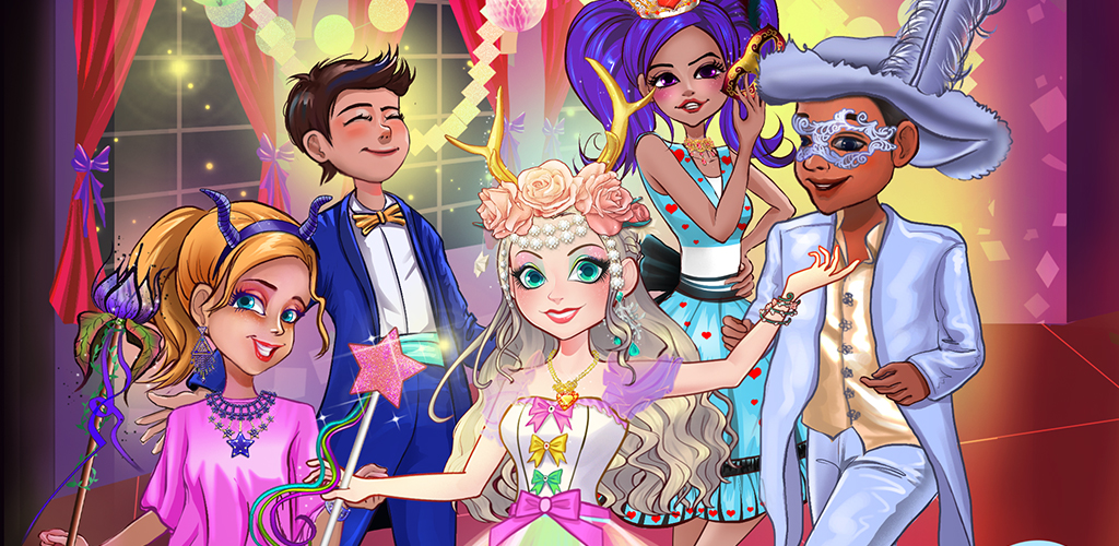 PRINCESS MONSTER COSTUME PARTY  You're opening up your castle for a Halloween dance party. All of your royal friends will attend. Find your best monster costume and face paint to join the fun. Will you look the best?