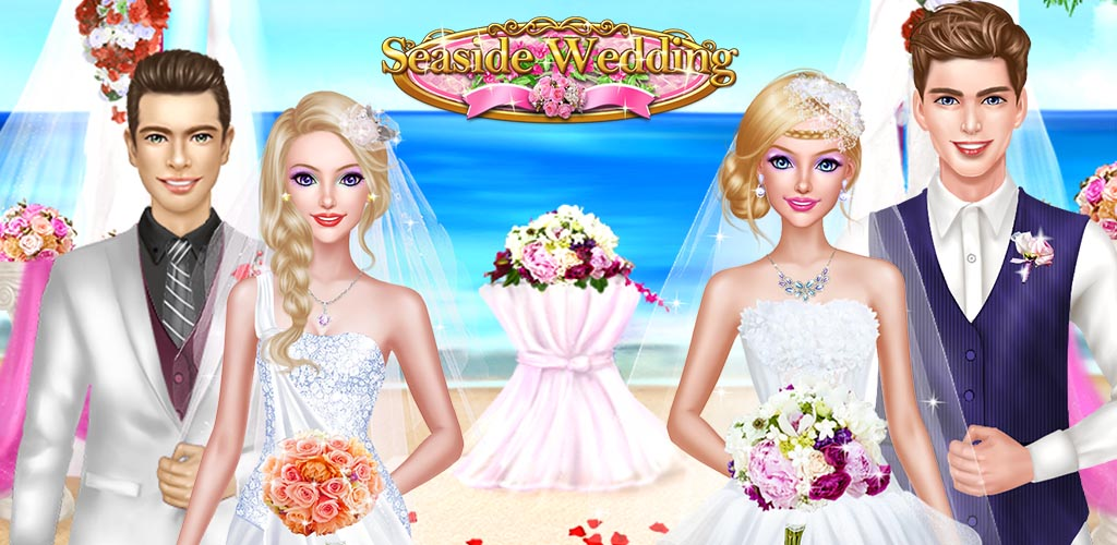 SEASIDE WEDDING SALON GIRL SPA  It's time for a beautiful seaside wedding....your wedding! Imagine feeling the sand between your toes as your stand on the beach, as you and your best friends all stand at the altar, wanting to look your best for your soon-to-be husbands!