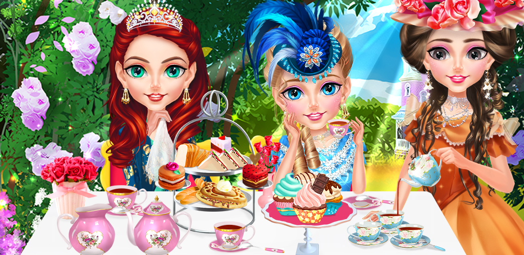 VICTORIAN PRINCESS TEA PARTY  It's time for your afternoon tea, and you've decided to invite all of your princess friends over for a spot of tea. It's the Victorian era, and hosting a perfect tea party makes for a delightful day.